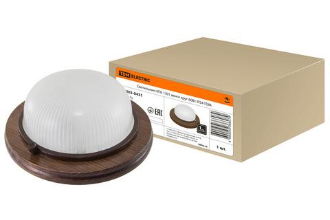 Светильник НПБ1101 венге круг 100Вт IP54 TDM