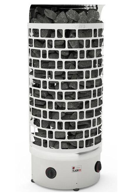 Серия Aries: Электрическая печь SAWO ARIES ARI3-45NB-WL-P (4,5 кВт, встроенный пульт, пристенная, нержавейка)