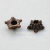 "Шапочка для бусины ""звездочка"" (цвет - античная медь) 5х1,5 мм, 10 штук"