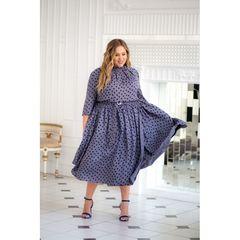 Платье Агата в горошек 29291-grey