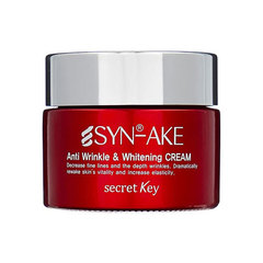 Secret Key Syn-Ake Anti Wrinkle&Whitening Cream - Крем для лица с пептидом змеиного яда