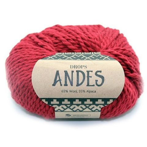 Пряжа Drops Andes 3946 темно-красный