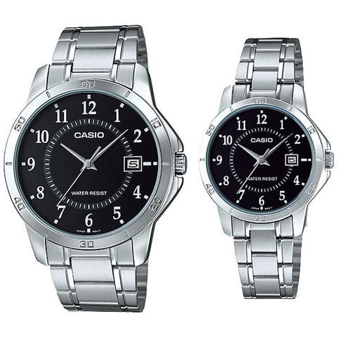 Купить Парные часы Casio Standard: MTP-V004D-1BUDF и LTP-V004D-1BUDF по доступной цене