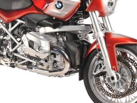 Защита масляного радиатора (решетка) BMW R1200R (11-14) черный/серебро