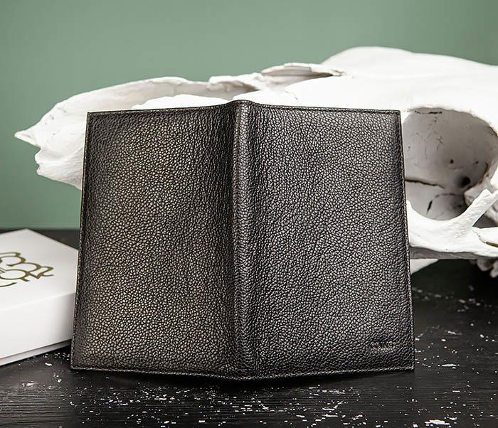 BC217-1 Кожаная обложка для авто документов и карт «Santini», черная фото 03