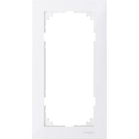 Рамка на 2 поста, без перегородки. Цвет Полярный белый. Merten. M-Pure System M. MTN4025-3619