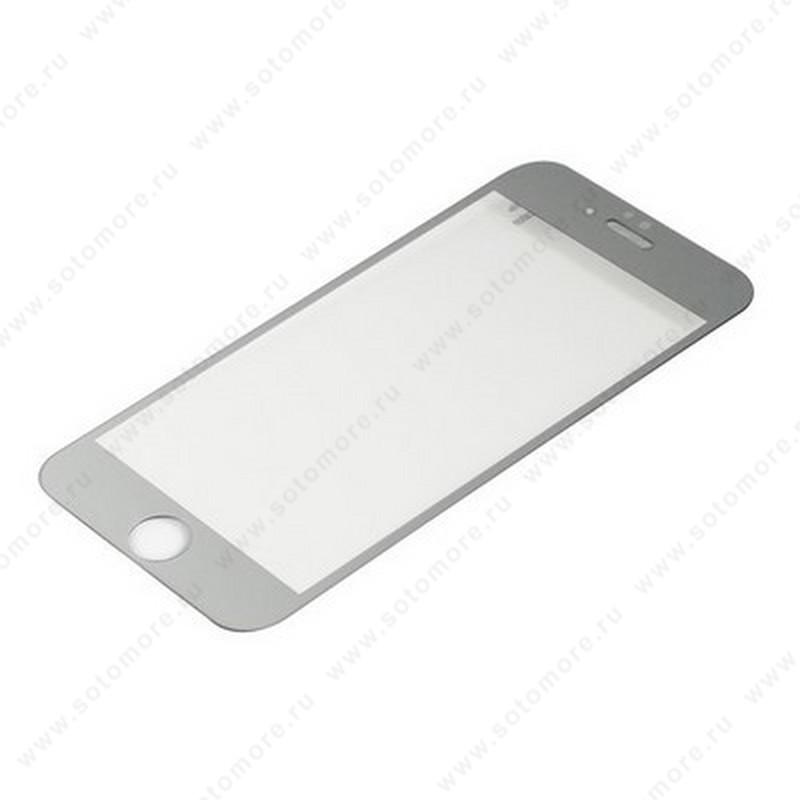 Стекло защитное SOTOMORE для Apple iPhone 6s Plus/ 6 Plus - толщина 0.26 mm в упаковке 2в1 зеркальные серебро
