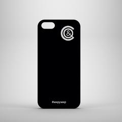 Чехол для iPhone черный с монограммой