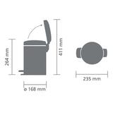 Мусорный бак newicon (3 л), Белый, арт. 112126 - превью 5
