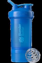 BlenderBottle ProStak, 650мл Шейкер с 2мя контейнерами, таблетницей и пружиной синий бирюзовый