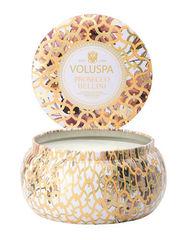 Ароматическая свеча Voluspa Просекко Белини в алюминевой банке с 2 фитилями