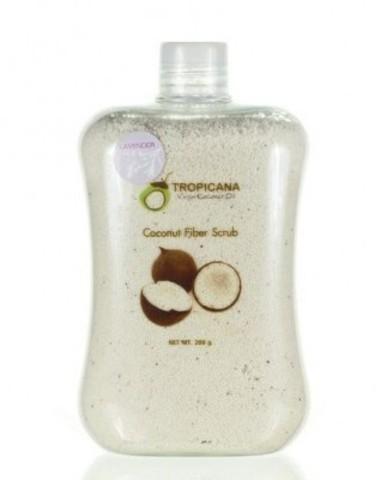 Cкраб для тела из кокосового волокна с лавандой Coconut Fiber Scrub Tropicana, 200 мл