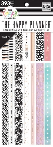 Блокнот со стикерами Washi Book - Pastels-393шт