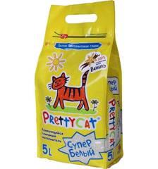 """Наполнитель комкующийся  комкующийся для кошачьих туалетов """"Супер белый"""" с ароматом ванили, PrettyCat"""
