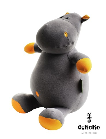 Подушка-игрушка антистресс «Бегемот Няша», оранжевый 2