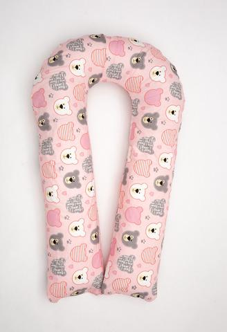 Подушка для беременных U350 (полистирол + лебяжий пух) 10090 розовые мишки