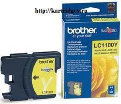 Картридж Brother LC1100Y