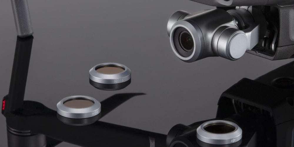 Набор оптических фильтров DJI Mavic 2 Zoom ND Filters Set (ND4/8/16/32) (Part18) с дроном