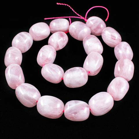 Розовый кварц Мадагаскар бусина гладкая 15 х 12 мм 1 бусина