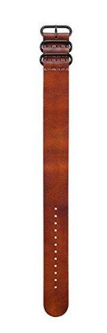 Купить Кожаный коричневый НАТО ремешок для Garmin Fenix 010-12168-21 по доступной цене