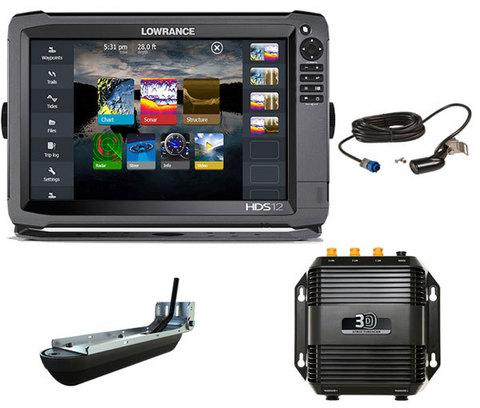 Комплект Lowrance HDS-12 Gen3 + StructureScan 3D + датчик HST-WSBL