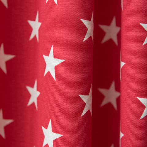 Готовый комплект штор хлопок Биатрис красный