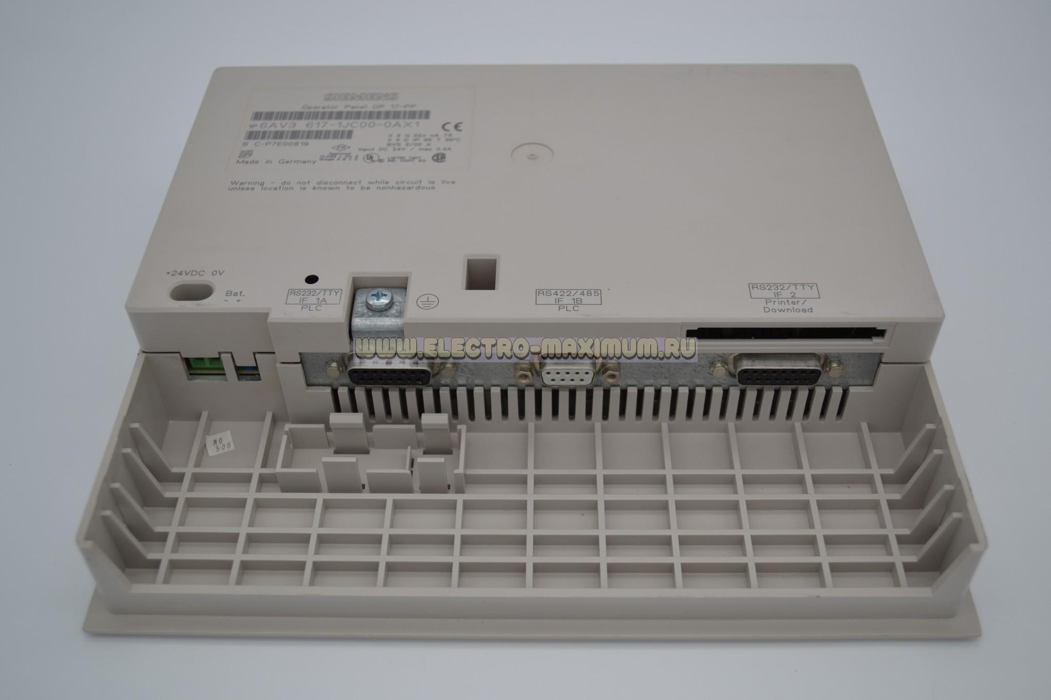 SIMATIC OP17/PP 6AV3 617-1JC00-0AX1
