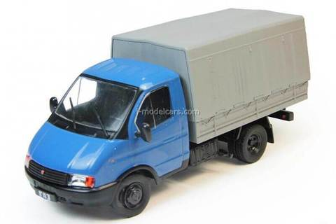 GAZ-3302 Gazelle blue-gray 1:43 DeAgostini Auto Legends USSR #181