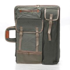 Сумка-рюкзак для художественных принадлежностей, парусина, темно-зеленый цвет