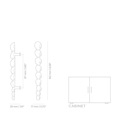 Мебельная ручка PullCast NATICA OC2002