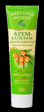 Iris Народная аптека Крем-бальзам для рук и ногтей с маслом облепихи 100мл