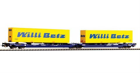 Piko 58955  Платформа с двумя контейнерами Willy Betz,1:87