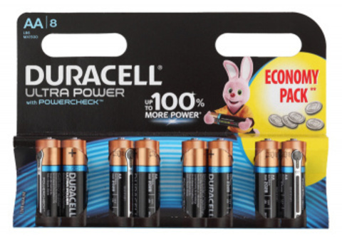 Батарея Duracell Ultra Power LR6-8BL MX1500 AA (8шт)