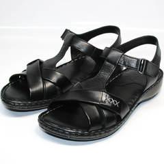 Женские босоножки на низком каблуке Evromoda 15 Black.