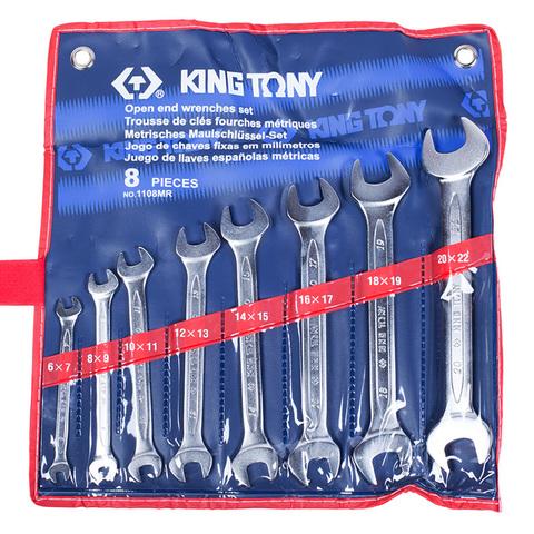 KINGTONY (1108MR) Набор рожковых ключей, 6-22 мм, 8 предметов