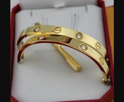 Браслет Cartier Love Diamonds Yellow Gold