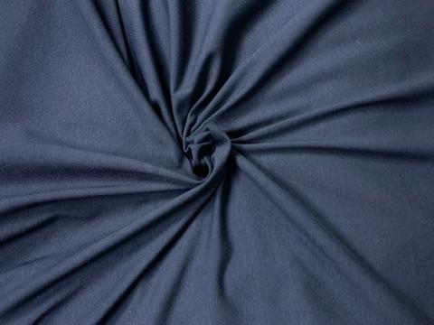 Кулирная гладь с лайкрой сине-черная 50*180 см
