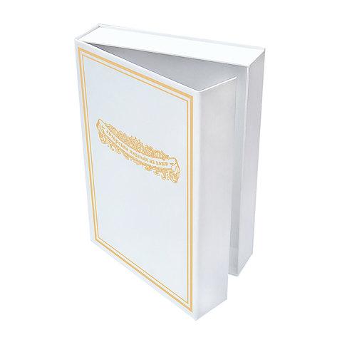 Подарочная коробка для ежедневника белая