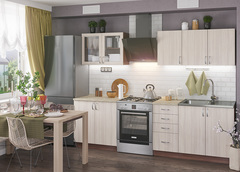 Кухонный гарнитур Татьяна 2 м ясень шимо светлый