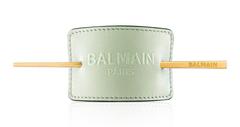 Balmain Заколка для волос кожаная с тиснением пастельный зеленый Лимитированная Коллекция