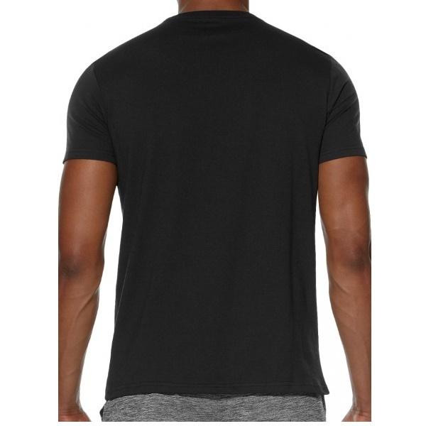 Мужская футболка с логотипом Asics Camou Logo SS Top (131529 0904) черная фото