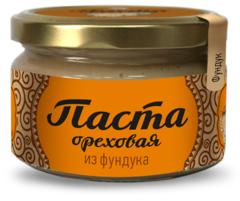 Паста ореховая, Сибирский Кедр, из обжаренных ядер фундука, 250 г.
