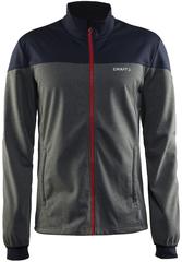 Утепленная лыжная куртка Craft Voyage XC серая для бега зимой