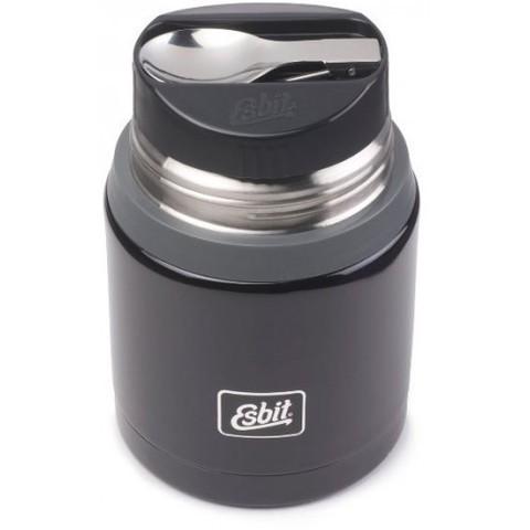 Термос для еды Esbit FJSP, с ложкой, темно-голубой/серый, 0.75 л