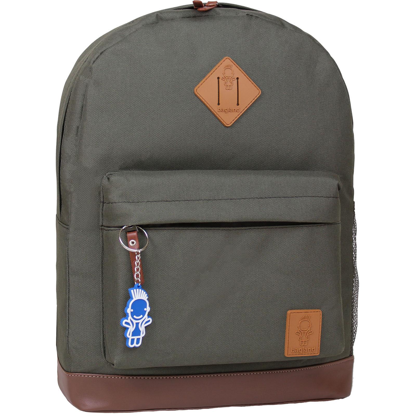 Городские рюкзаки Рюкзак Bagland Молодежный (кожзам) 17 л. Хаки (00533663) IMG_6071-1600.jpg