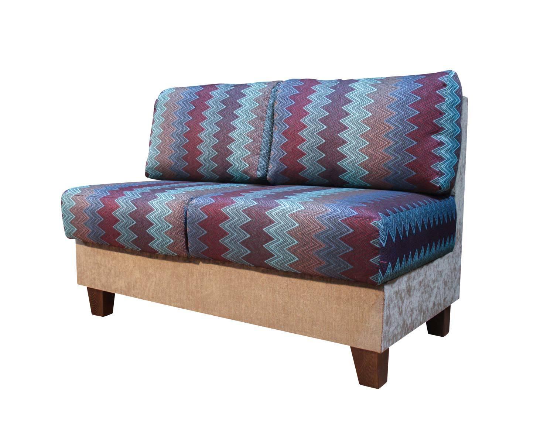 2-местный прямой диван Япошка, подушки без втяжек