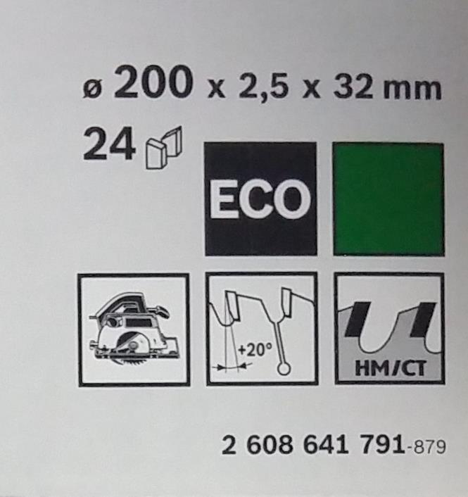 Диск по дереву Bosch 200х2,5х32 мм Optiline ECO Z24