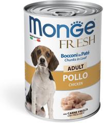 Monge Adult Dog Fresh Chinks in Loaf влажный корм для взрослых собак Мясной рулет с курицей 400гр