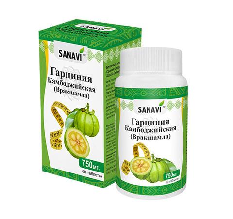 Гарциния камбоджийская SANAVI 750 мг, 60 таб.