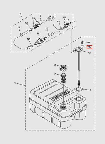 Уплотнительная шайба  для лодочного мотора T15, OTH 9,9 SEA-PRO (18-5)